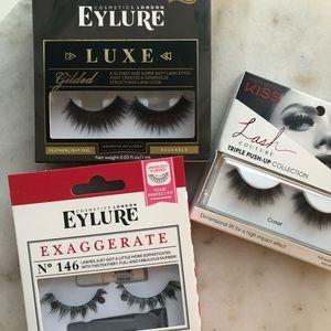 3 NWT Faux Adhesive Eyelashes